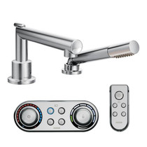 Moen Arris roman tub faucet includes hand shower iodigital™ technology