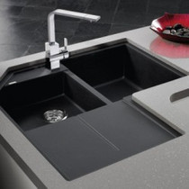 BLANCO METRA SILGRANIT double bowl corner sink
