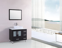 "Pine 36"" Bathroom Vanity with Over Mount Sink Espresso"