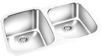 """Double Bowl Cosmo Under Mount 33 1/8"""" x 20 1/8"""""""