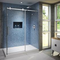 Kalia Rollax Square Shower Glass Enclosure 60u0027u0027X ...