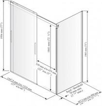 "Kalia Akcess Corner Shower Enclosure 60''X 36""X 77''"