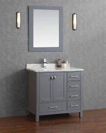 """Armada 36"""" Bathroom Vanity Ice Grey"""