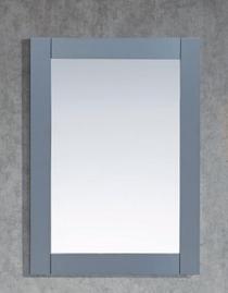 "Royal Wall Framed Mirror 30"" Ice Grey"