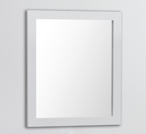 "Royal Wall Framed Mirror 24"" White"