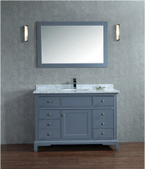 "Argento 72"" Ice Grey Single Sink Bathroom Vanity"