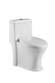 Crown Victoria Dual Flush Toilet One Piece Low Depth 23 3/4""