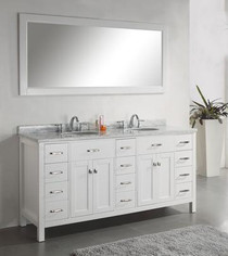 "Alexandria 72"" Bathroom Vanity White"