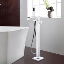 Royal Fall Freestanding Tub Filler Faucet Brushed Nickel