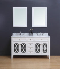 "Casa 60"" Double Sink Bathroom Vanity White"