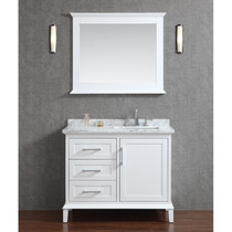 "Milano 36"" Bathroom Vanity White"