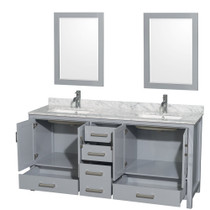 "Armada 72"" Bathroom Vanity Ice Grey"