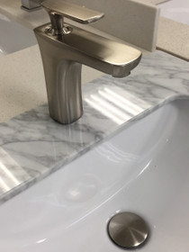 Royal Elegance Bath Lav Faucet Brushed with Drain