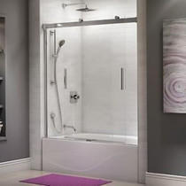 "Kalia AKCESS  60"" X 60"" Alcove sliding bathtub door Chrome"