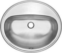 Kindred OV1821/6/1 Commercial 1 Hole Drop-In Stainless Steel Vanity Bathroom Sink