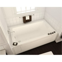 Maax Bath Acrylic End Drain Drop-In Rectangular Bathtub, White