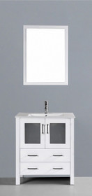 "Bello 30"" Bathroom Vanity White"