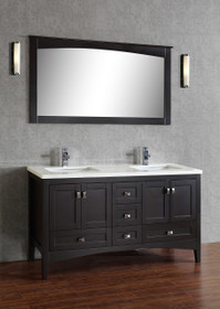 "Yorkton  60"" Bathroom Vanity Espresso ** PRE BOXING SALE **"