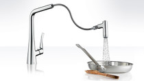Hansgrohe Metris 2-Spray HighArc Kitchen Faucet, Pull-Out
