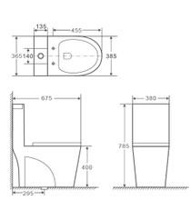 Crown Emprio Dual Flush Toilet One Pc