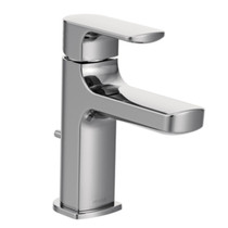 Moen Rizon  Chrome one-handle low arc bathroom faucet