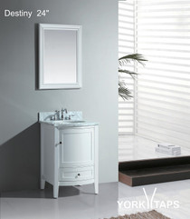 "Destiny 24"" Bathroom Vanity White"