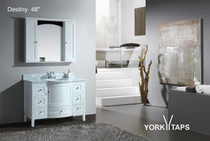 "Destiny 48"" White Bathroom Vanity"