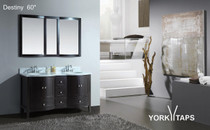 "Destiny 60"" Double Sink Bathroom Vanity"