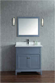 "Argento 36"" Ice Grey Bathroom Vanity"