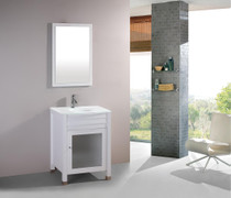 "Palerma 24"" White Bathroom Vanity"