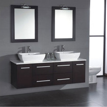 "Rexdale 60"" Wall Mount Bathroom Vanity"