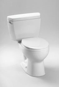Toto Eco Drake Two-Piece Toilet, 1.28 GPF, Round Bowl