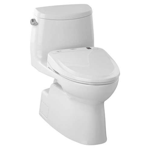 MW614584CEFG-01 Carlyle S350E One Piece Elongated Toilet With Tornado Flush System, 1.28 GPF