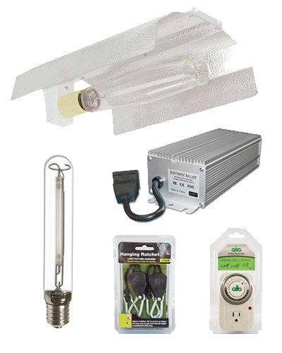 home kits packages grow light kits 250w hid grow light kit. Black Bedroom Furniture Sets. Home Design Ideas