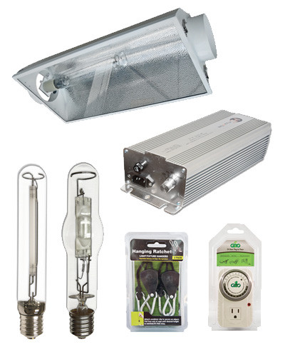 home kits packages grow light kits 400w hid grow light kit. Black Bedroom Furniture Sets. Home Design Ideas