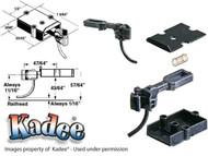 745 Kadee® O Scale Medium Centerset Shank Metal Coupler plastic box for Brass