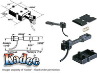 746 Kadee® O Scale Long Centerset Shank Plastic Coupler 2 / 3 rail Brass PLastic
