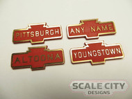 PRE-FINISHED PRR Pennsylvania Railroad Station Sign Laser Cut CUSTOMIZED ANY NAME O Scale