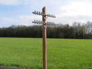 48-1183 Utility Pole Double Crossarm Basic Kit Electric Telephone O Scale QTY 6 FKA KEIL LINE