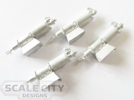 48-337 Brake Cylinders Type K Freight O Scale FKA Keil Line