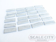48-656 Clerestory Rectangle Air Intake Screened Passenger Car O Scale