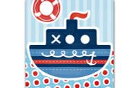 Little Chipipi Eco Greeting Card - Tug Boat