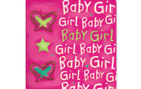 Little Chipipi Playtime Greeting Card - Baby Girl Butterfly