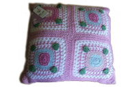 Forget Me Not - Crochet Square Cushion