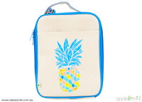 Lunch Bag - Grey Blue - Pineapple (front)