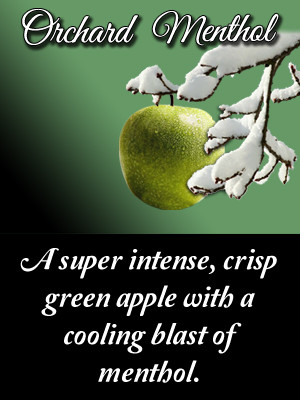 A super intense, crisp green apple with a cooling blast of menthol.