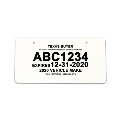 Similiar Dealer Paper License Plate Template Keywords