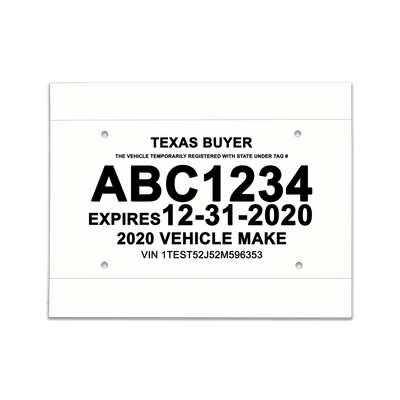 Texas Buyer Temporary License Plate Pictures to Pin on