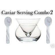 Caviar Server with 2 pearl spoons ~ Elegant