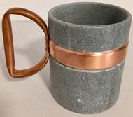 Soapstone Coffee Mug with Copper Handle